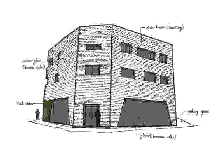 플라츠_울산시 중구 유곡동 470-1 상가주택: AAG architecten의 현대 ,모던