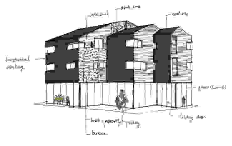 결무리집_인천시 중구 운서동 3047-10 상가주택: AAG architecten의 현대 ,모던