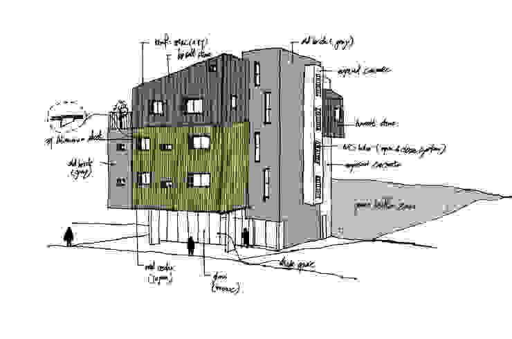 온유재_광명시 일직동 503-12 상가주택: AAG architecten의 현대 ,모던