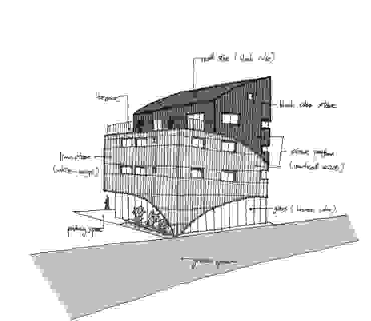 유미재_안양시 박달동 925-3 상가주택: AAG architecten의 현대 ,모던