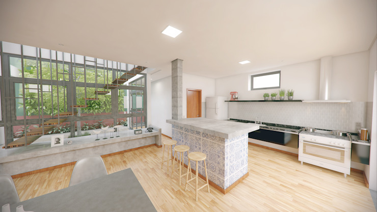 Minimalistische Küchen von OMA Arquitetura Minimalistisch