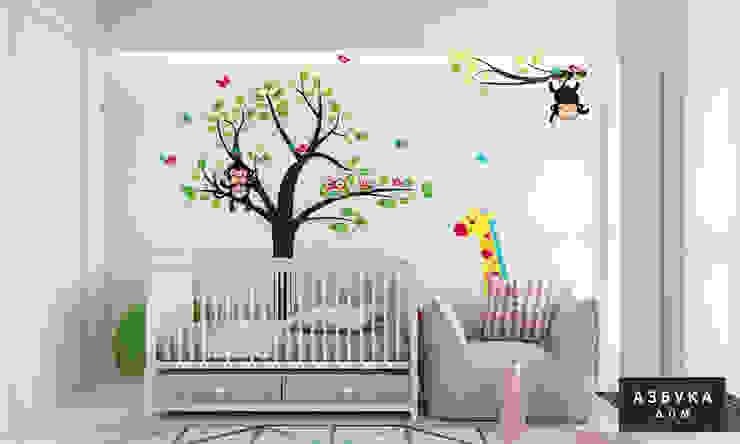 Chambre d'enfant minimaliste par Студия дизайна 'Азбука Дом' Minimaliste