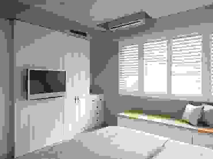 ห้องนอน โดย 木皆空間設計,