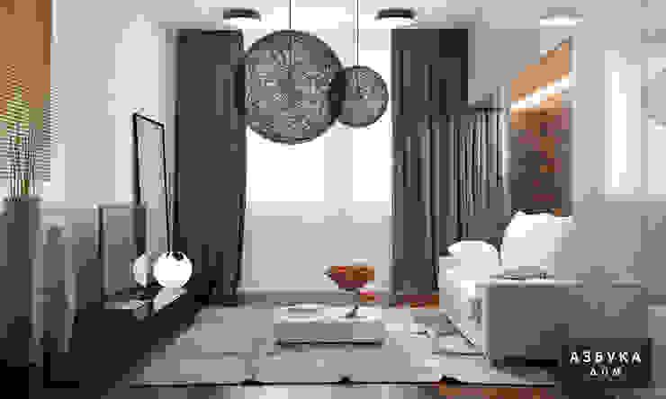 Частный дом «Природа внутри» Спальня в стиле минимализм от Студия дизайна 'Азбука Дом' Минимализм