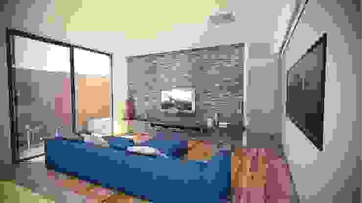 Casa LUZ SP Salas multimídia modernas por OMA Arquitetura Moderno