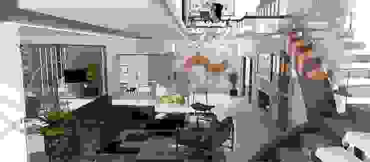 Living - Estar con doble altura de CASTELLINO ARQUITECTOS (+) Moderno Vidrio