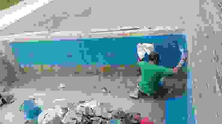 CONSTRUCCIÓN DE ALBERCA EN TENANCINGO Albercas modernas de Albercas Aqualim Toluca Moderno Concreto