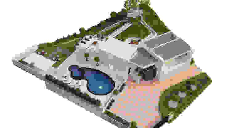 render anapoima arte 3d fusagasuga Casas de estilo minimalista de okull creativo Minimalista