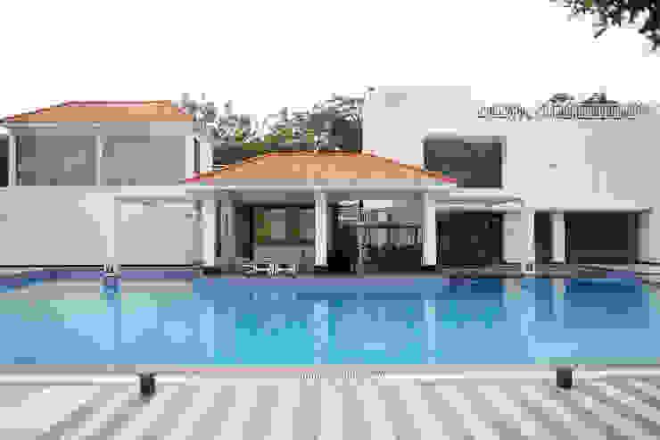 Dhanturi Farm House Mediterranean style pool by iammies Landscapes Mediterranean