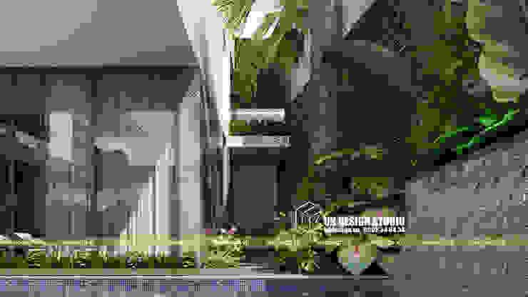 BIỆT THỰ HIỆN ĐẠI SÂN VƯỜN HỒ BƠI Vườn phong cách hiện đại bởi UK DESIGN STUDIO - KIẾN TRÚC UK Hiện đại