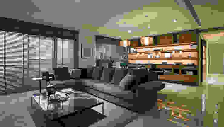豐邑一第 现代客厅設計點子、靈感 & 圖片 根據 立禾空間設計有限公司 現代風