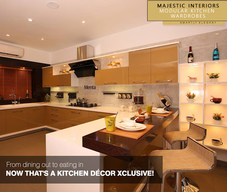 INTERIOR DESIGNERS IN FARIDABAD Asian style kitchen by MAJESTIC INTERIORS Asian