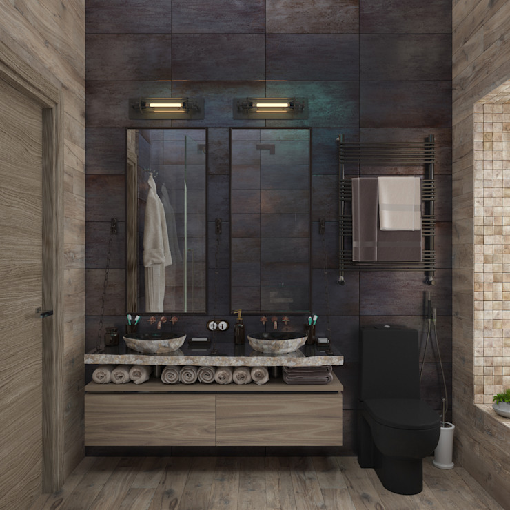 Industrial style bathroom by 3D GROUP Industrial