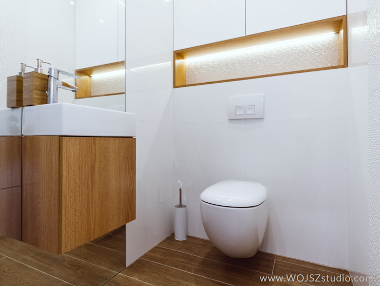 Modern bathroom by WOJSZ STUDIO Modern