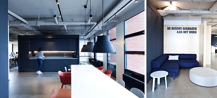 Binnenvorm Industrial style offices & stores Blue