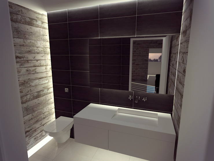 Modern style bathrooms by Metamorfosis Arquitectura Modern Concrete