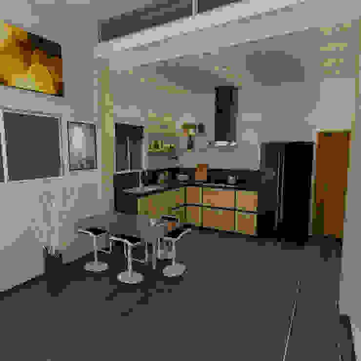 Propuesta 1 José D'Alessandro Cocinas de estilo moderno Aglomerado Acabado en madera