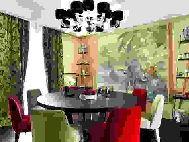 Sala da Pranzo Daniele Franzoni Interior Designer - Architetto d'Interni Sala da pranzo in stile classico Legno Rosso