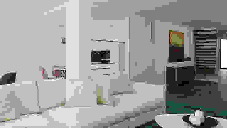 Moradia Unifamiliar T3 - Lordelo-Paredes Salas de estar modernas por Esboçosigma, Lda Moderno