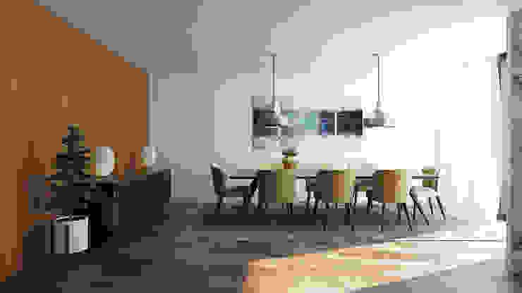 Moradia Unifamiliar T3 - Lordelo-Paredes Salas de jantar modernas por Esboçosigma, Lda Moderno