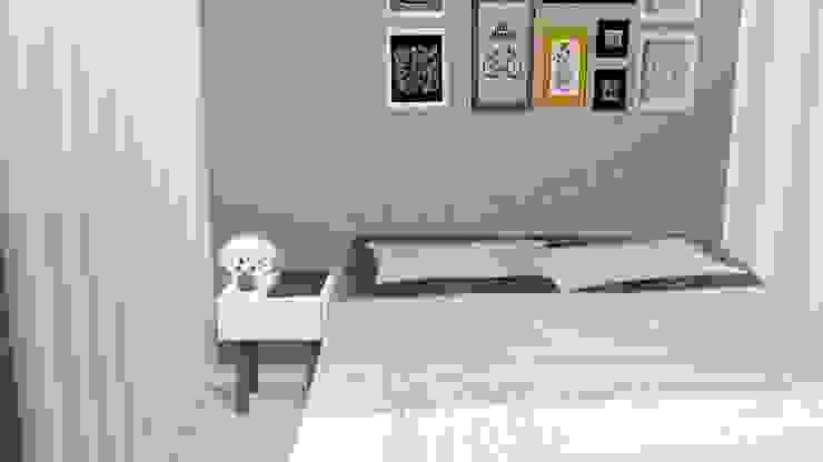 Dormitorios de estilo ecléctico de PRISCILLA BORGES ARQUITETURA E INTERIORES Ecléctico