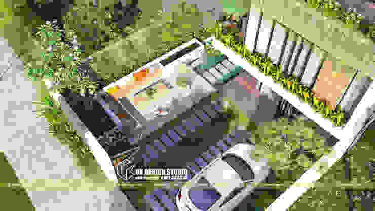 Biệt thự hiện đại 10 x 20m bởi UK DESIGN STUDIO - KIẾN TRÚC UK Hiện đại