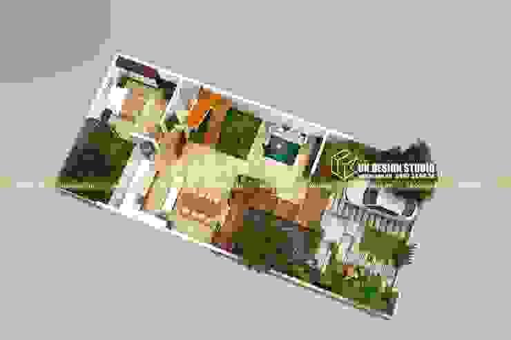 Mặt bằng biệt thự hiện đại 10 x 20m bởi UK DESIGN STUDIO - KIẾN TRÚC UK Hiện đại