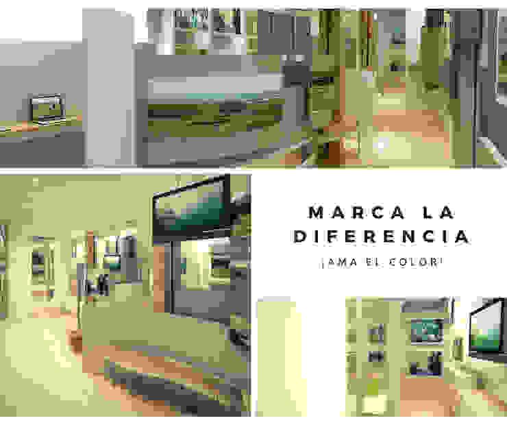 Centros de exposições modernos por Mauriola Arquitectos Moderno Madeira Efeito de madeira