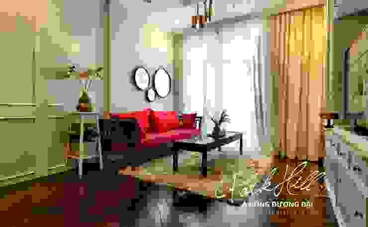 Căn hộ Park Hill Á-Đông-Đương-Đại 99m2 Phòng khách phong cách chiết trung bởi Công ty cổ phần NỘI THẤT AVALO Chiết trung