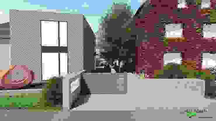 Neubau Gallery DavisKlemm - geplante Eingangssituation von dirlenbach - garten mit stil