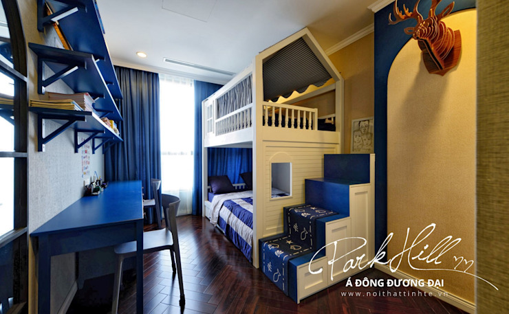 Công ty cổ phần NỘI THẤT AVALO Eclectic style nursery/kids room Blue