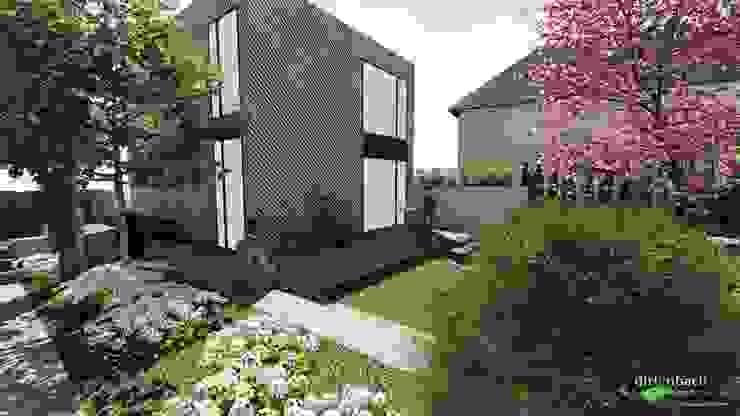 Reduziert wie das Gebäude ist auch der Garten von dirlenbach - garten mit stil