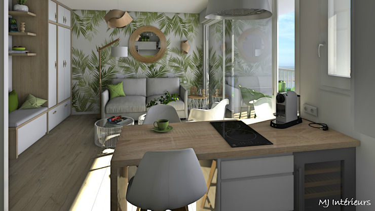 Tropical style dining room by MJ Intérieurs Tropical