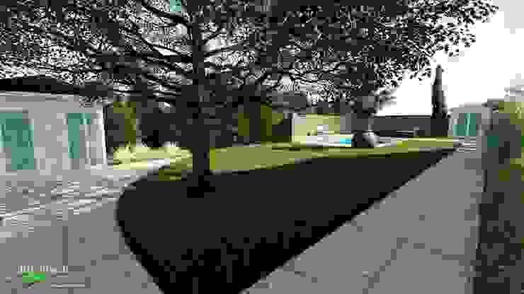 """""""Blick in den Garten"""" als Erläuterung des Vorentwurfs von dirlenbach - garten mit stil"""