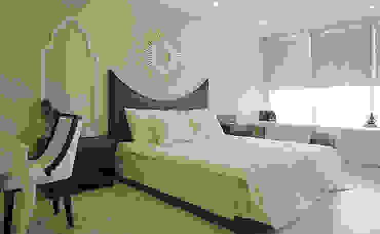 Căn hộ Tân Cổ Điển Lãng Mạn ở Thăng Long No1 Phòng ngủ phong cách Bắc Âu bởi Công ty cổ phần NỘI THẤT AVALO Bắc Âu