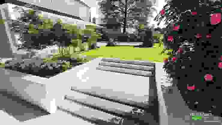 Einbau eines Pools in einen vorhandenen Garten mit neuem Gartenzugang von dirlenbach - garten mit stil