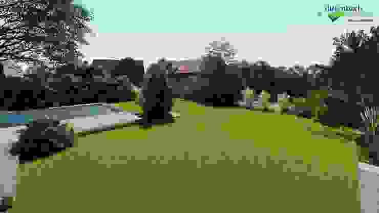 Visualisierung: Einbindung Pool in den Garten von dirlenbach - garten mit stil