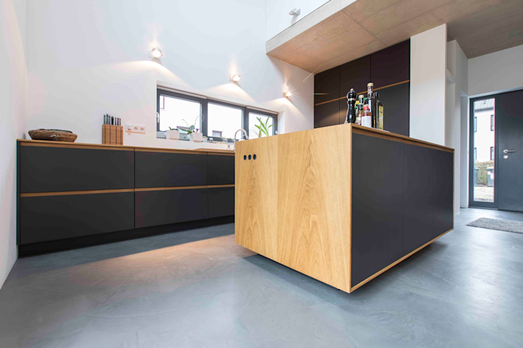 Minimalist kitchen by pickartzarchitektur Minimalist Wood Wood effect