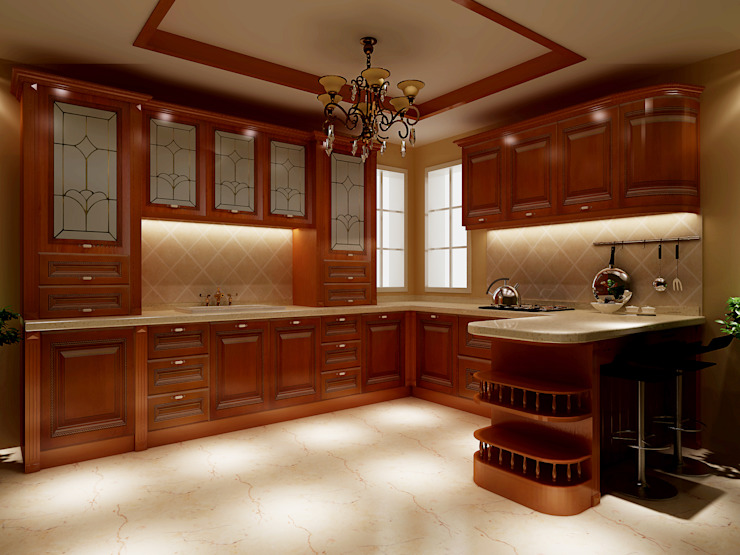 classic  by YALIG Kitchen Cabinet, Classic Solid Wood Multicolored