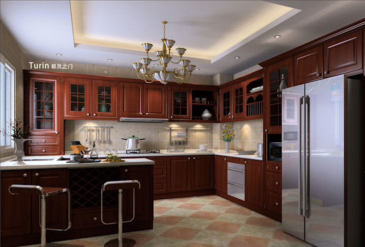 YALIG Solid Wood Kitchen Cabinets: classic  by YALIG Kitchen Cabinet, Classic Solid Wood Multicolored