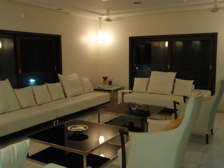 Formal living by Sahana's Creations Architects and Interior Designers Minimalist