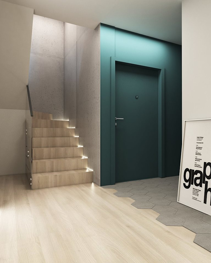 Modern corridor, hallway & stairs by FOORMA Pracownia Architektury Wnętrz Modern