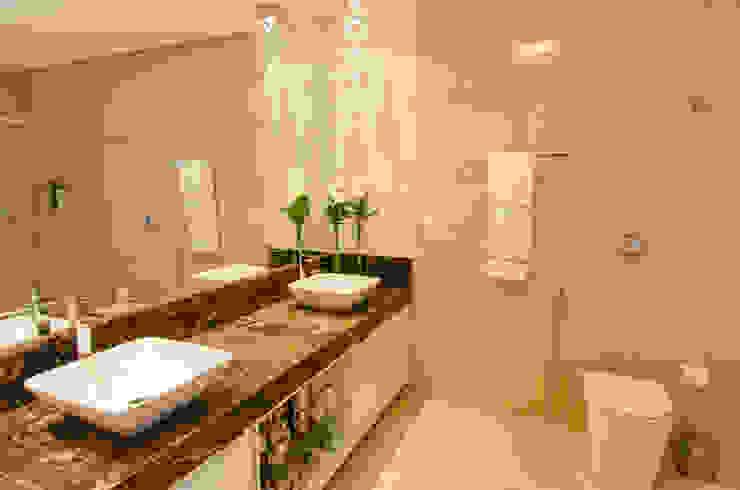 Casa Contemporânea Escritório 238 Arquitetura Banheiros modernos