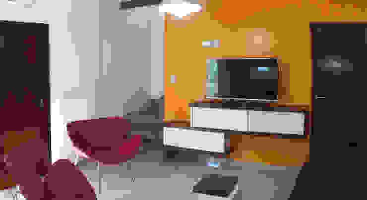 Casa M-1216 Livings modernos: Ideas, imágenes y decoración de ELVARQUITECTOS Moderno