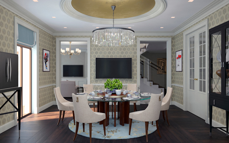 Eclectic style dining room by Archdetail Eclectic