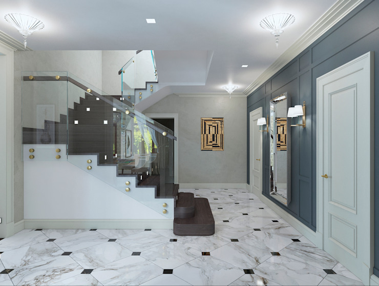 Eclectic style corridor, hallway & stairs by Archdetail Eclectic