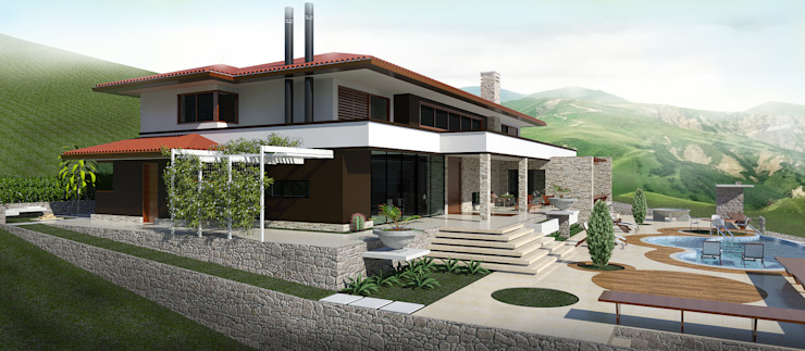 根據 UNICA Arquitetura 鄉村風 石器