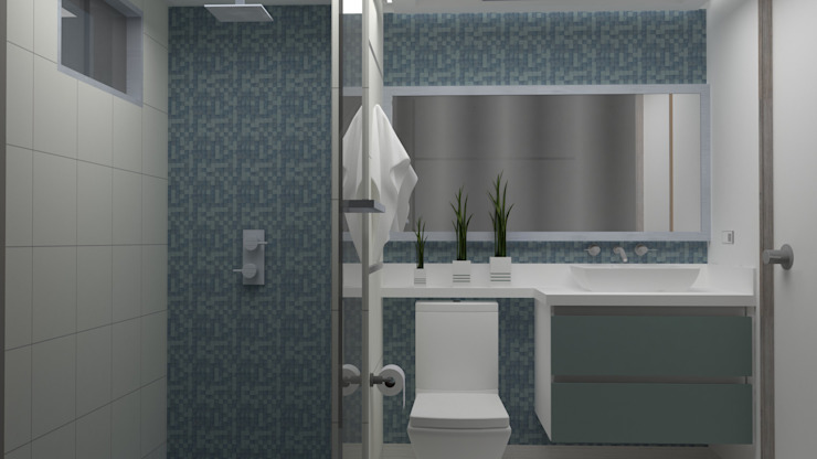 Modern style bathrooms by Arq. Marynes Salas Modern