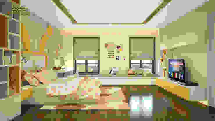 Phòng ngủ bé gái: hiện đại  by Công ty TNHH Thiết kế và Ứng dụng QBEST, Hiện đại