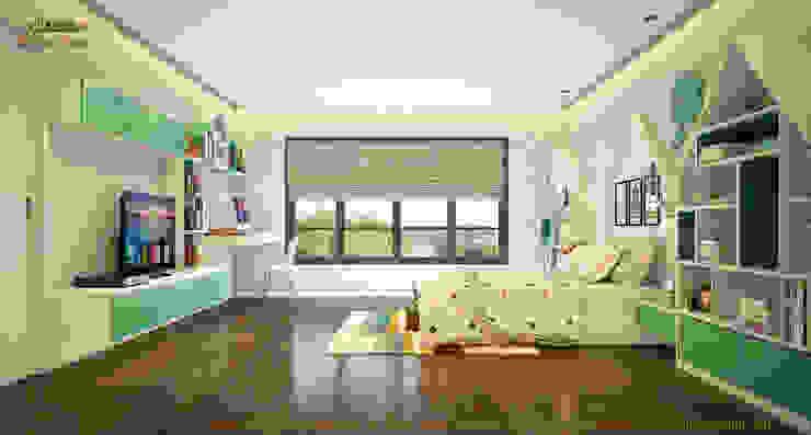 Phòng ngủ bé trai: hiện đại  by Công ty TNHH Thiết kế và Ứng dụng QBEST, Hiện đại